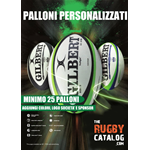 GILBERT CUSTOM MATCH RUGBY BALLS